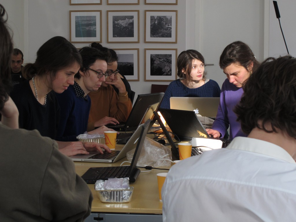 The Annotators at work (Photo: Nicolas Malevé)